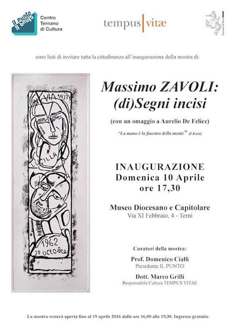 Massimo Zavoli: (di)Segni incisi
